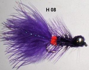 dog nobbler violet (mouche streamer)