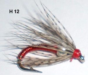red ass soft hackle (nymphe bille)