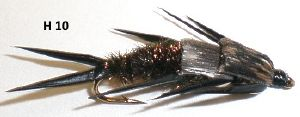 stonefly double bille (nymphe bille)
