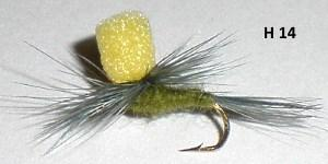 "blue winged olive (bwo) ""vision"" (mouche parachute)"