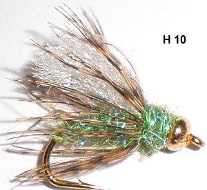 pupe de caddis hackle mou (nymphe bille)